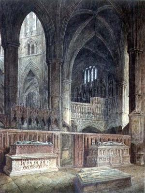 Interior of St.Edmund's Chapel, Westminster Abbey, 19th century