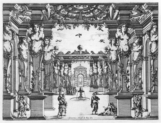 Stage design by Giacomo Torelli