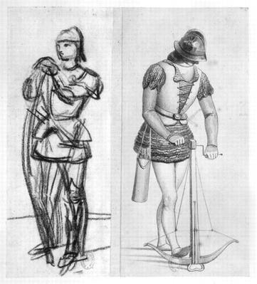 Archer and crossbowman during the reign of Louis XI