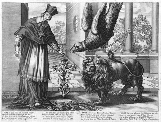 Allegory in praise of Cardinal Richelieu