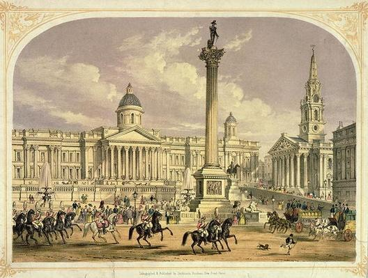 Trafalgar Square, published by the Dickinson Brothers, 19th century