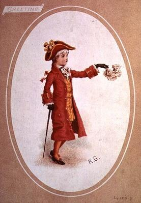 Boy Dressed in Scarlet