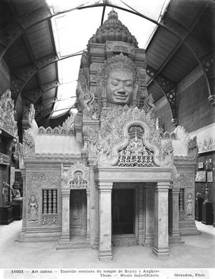 Reconstructed turret, Temple of Bayon at Angkor Thom, c.1912