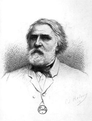 Portrait of Ivan Turgenev