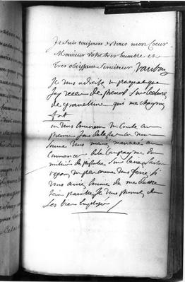 Post-scriptum autograph after a report dated from Brest, 11th August 1695
