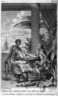 The black code, illustration from 'Voyage a l'Isle de France' by Bernardin de Saint-Pierre