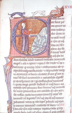 Ms 426 fol.213 A doctor by a fishpond, from 'Le Miroir de la Nature' by Vincent de Beauvais