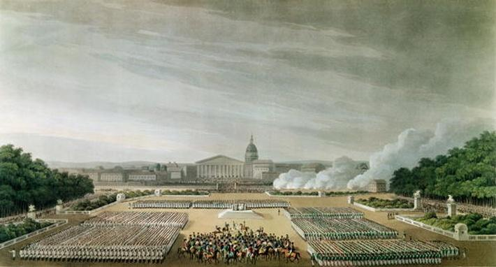 Ceremony of the Te Deum by the Allied Armies in Louis XV Square, Paris, on 10th April 1814