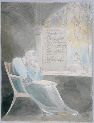 'The Progress of Poesy', design 42 from 'The Poems of Thomas Gray', 1797-98