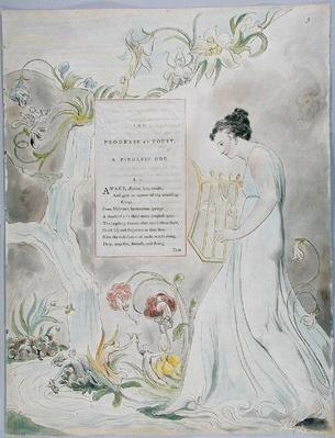 'The Progress of Poesy', design 43 from 'The Poems of Thomas Gray', 1797-98