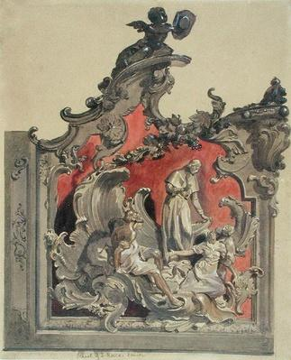 School of San Rocco, Venice: Study for curved decoration