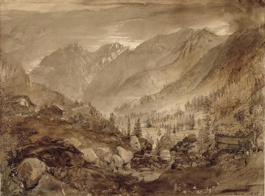Mountain Landscape, Macugnaga, 1845