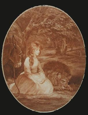 Miss Elizabeth Beauclerc as Una, engraved by Thomas Watson