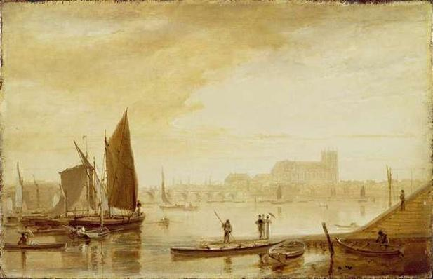 Westminster Bridge and Abbey, 1813
