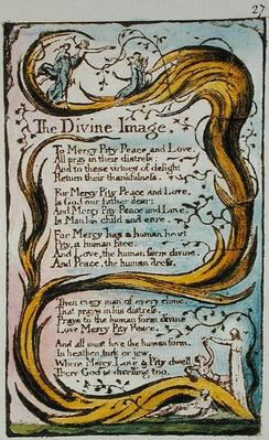 The Divine Image, illustration from 'Songs of Innocence and of Experience'