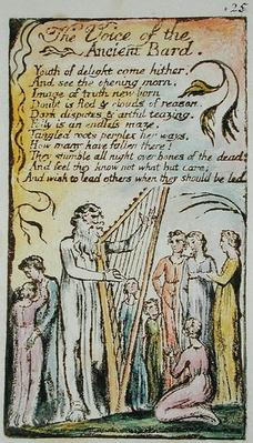 The Voice of the Ancient Bard, illustration from 'Songs of Innocence and of Experience',