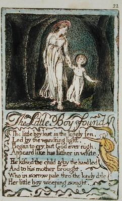 The Little Boy Found, illustration from 'Songs of Innocence and of Experience'