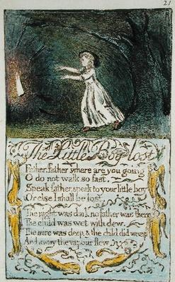 The Little Boy Lost, illustration from 'Songs of Innocence and of Experience'