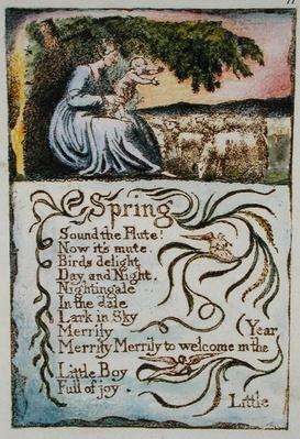Spring, illustration from 'Songs of Innocence and of Experience',