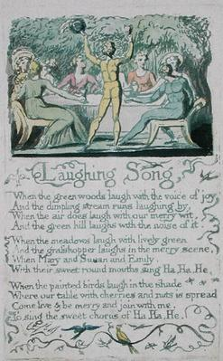 'Laughing Song,' plate 13 from 'Songs of Innocence,' 1789