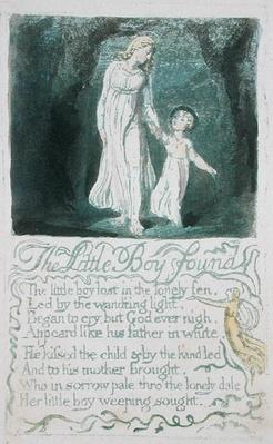 'The Little Boy Found,' plate 16 from 'Songs of Innocence,' 1789