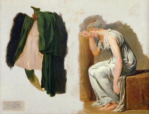 A green toga and Camille, study for 'The Oath of the Horatii'