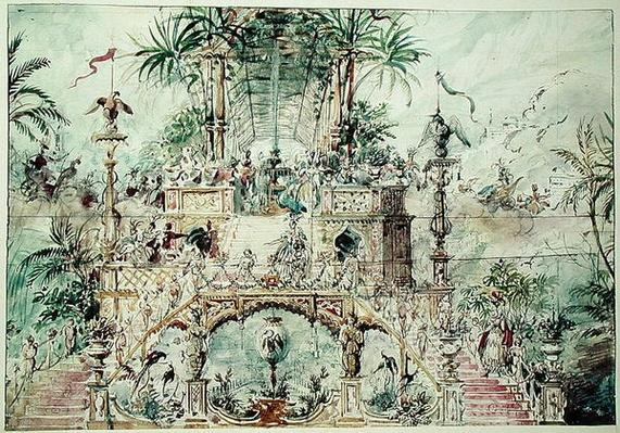 Set design for 'Aladdin', 1824