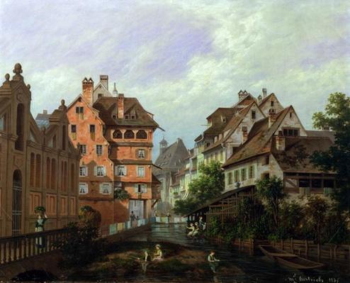 Rue des Tanneurs, Colmar, 1875