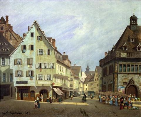 Place du Marche-aux-Fruits, Colmar, 1875