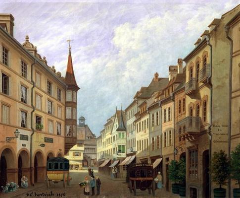 The Arcades, Grand Rue, Colmar, 1876