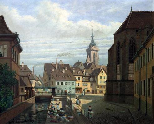 Place des Dominicains, Colmar, 1876