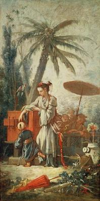 Chinese Curiosity, study for a tapestry cartoon, c.1742