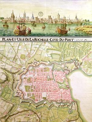 Plan of the town of La Rochelle, 1736
