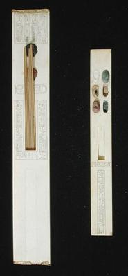 Two palettes, from the Tomb of Tutankhamun, Valley of the Kings, New Kingdom, c.1353-1327 BC