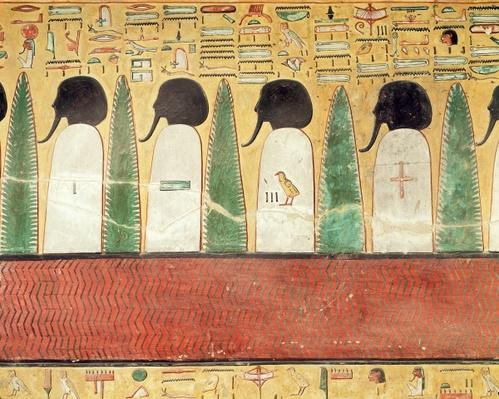 Relief depicting black-headed gods in the Underworld, from the Tomb of Seti I