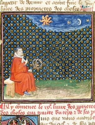 Ms 993 fol.114 Properties of the Sky, from 'Le Livre des Proprietes des Choses' by Jean Cordichon