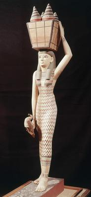 Woman carrying offerings, New Kingdom