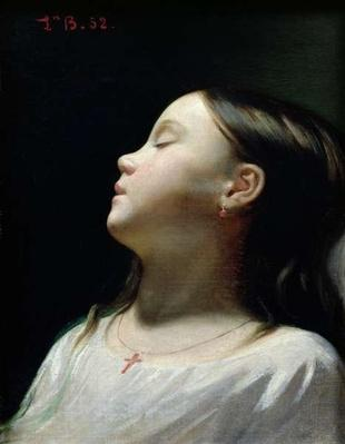 Young Girl Sleeping, 1852