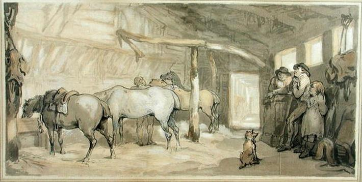 The Stable of an Inn, c.1790