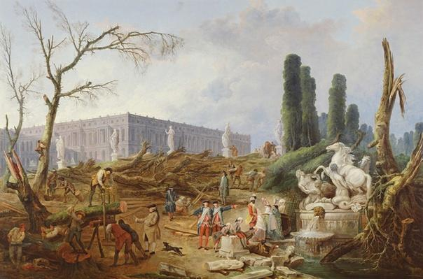 Tree Felling in the Garden of Versailles around the Baths of Apollo, 1775-77