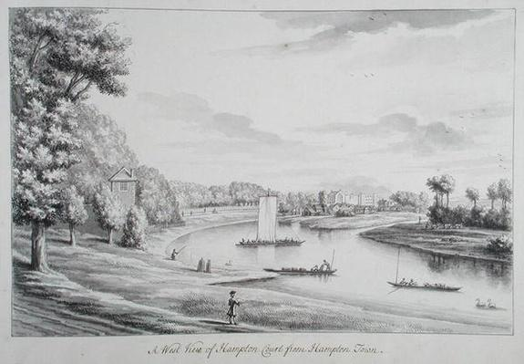 A West View of Hampton Court Ferry and Hampton Church at a Distance, 1731-33