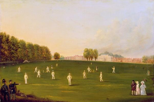 First Grand Match of cricket played by members of the Royal Amateur Society on Hampton Court Green, 3rd August 1836, 1836