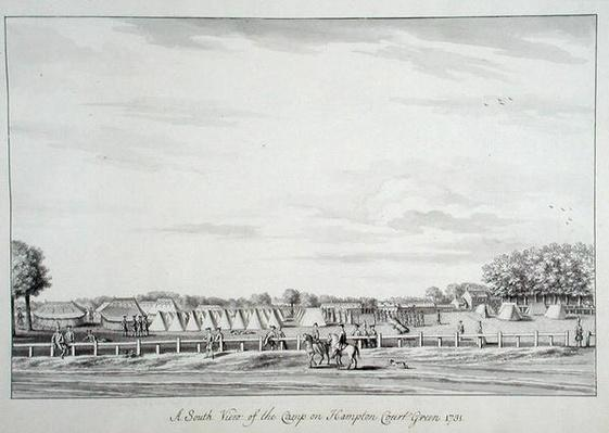 A South View of the Camp on Hampton Court Green 1731, 1731-33