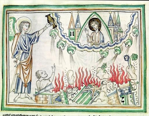 Ms 422 fol.77 The Destruction of Babylon