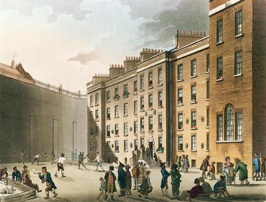 The Fleet Prison from Ackermann's 'Microcosm of London', Volume II, 1809