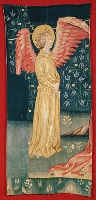 An Angel, fragment from no.84 of 'The Apocalypse of Angers', 1373-87