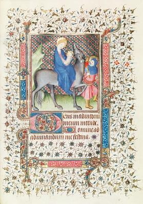 The Flight into Egypt, from the 'Heures d'Anne de Mathefelon'