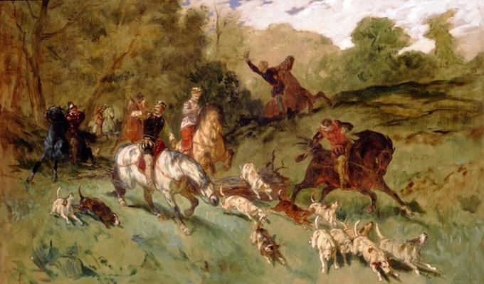 Mary Stuart hunting