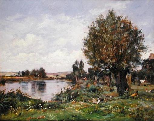 Rural river scene, 1875