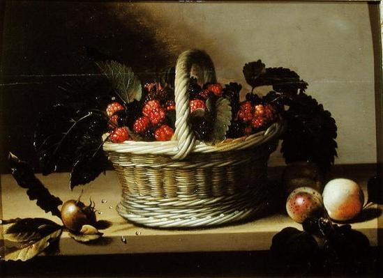 Basket of Blackberries and Raspberries